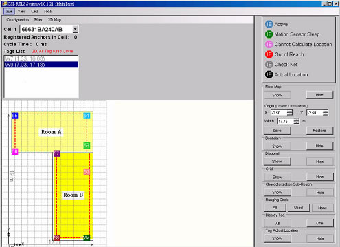 the CSL CS500 rtls software with floorplan